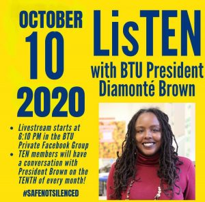 Listen Event October 10 2020 with Diamonte Brown